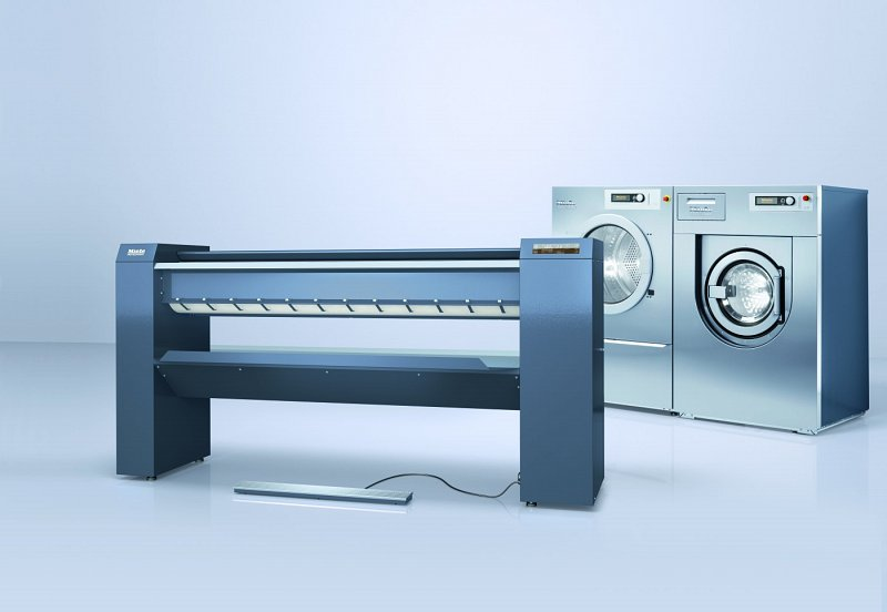 Miele Commercial Laundry Washer, Dryer and Rotary Iron