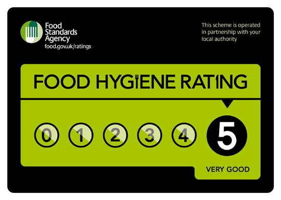 Score 5 for your Commercial Kitchen for Food Hygiene.