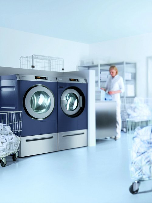 Commercial Laundry Equipment in Operation