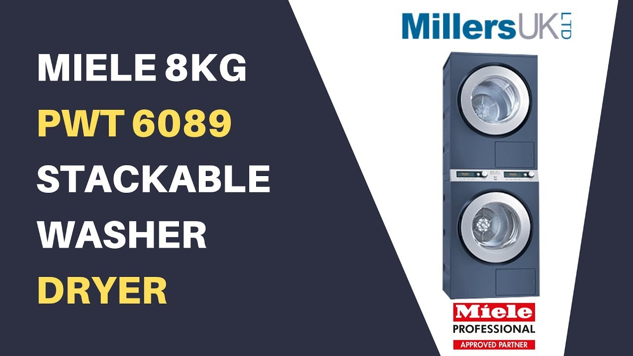 Miele 8kg Stackable Washer & Dryer PWT6089