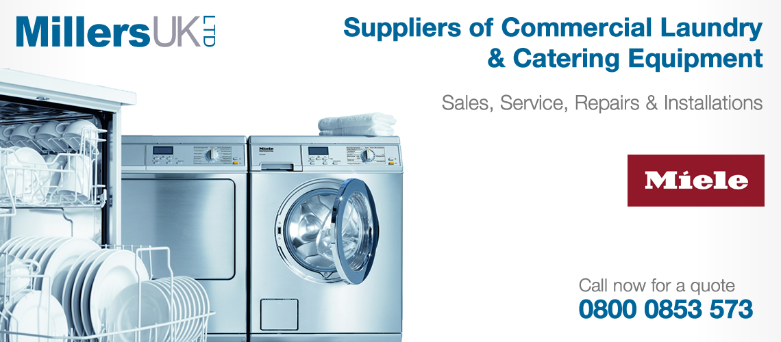 Millers UK Laundry Catering Installation Service.