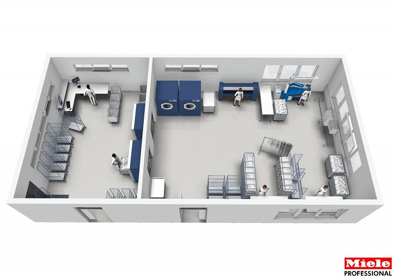 60 Bed Care Home Laundry Design Plan